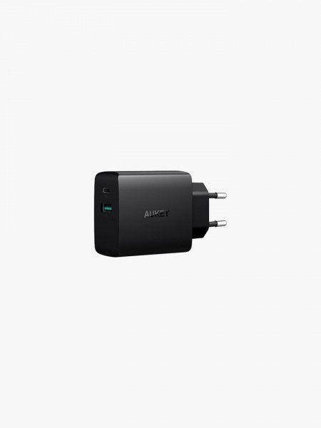 Carregador USB-A e USB-C AUKEY