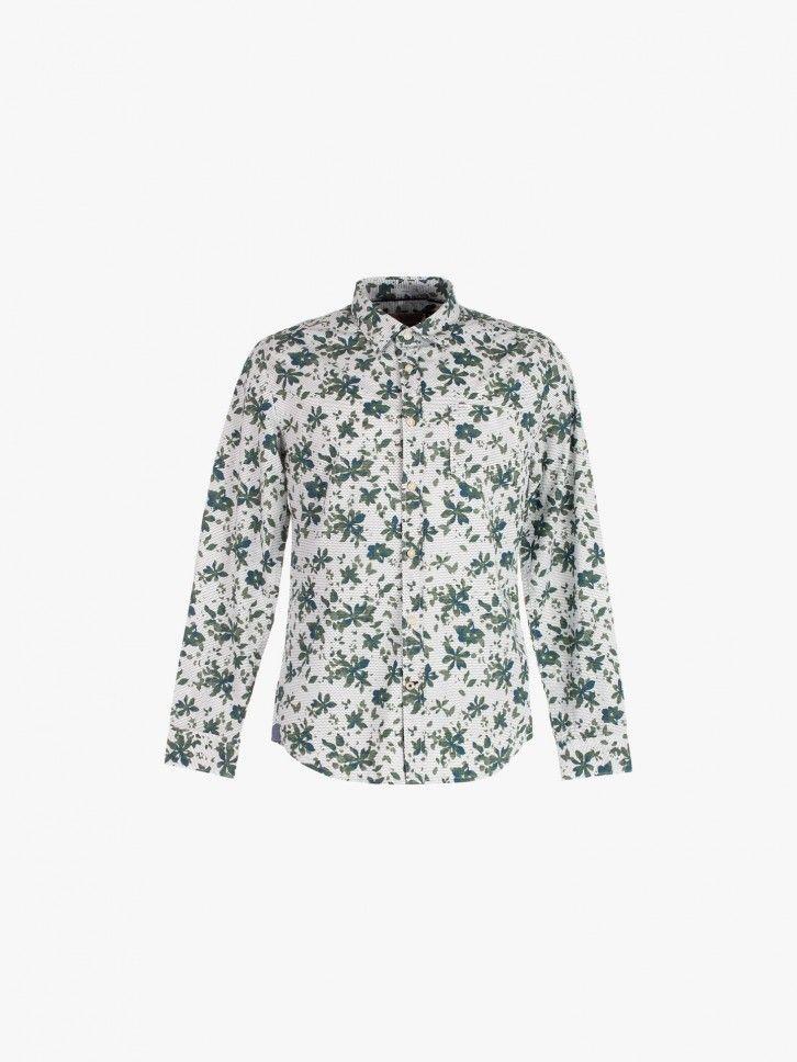 Camisa com padrão floral