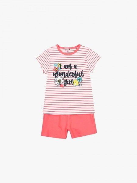 Pijama de t-shirt e calções