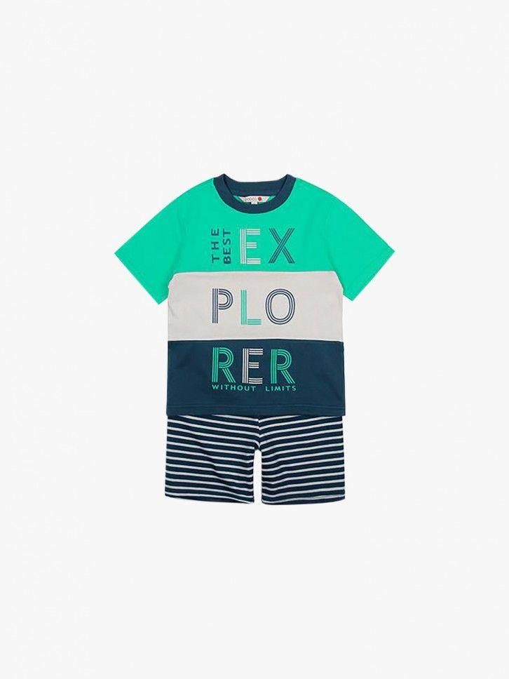 Pijama T-shirt e calção