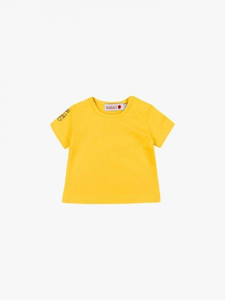 T-shirt com estampado nos ombros