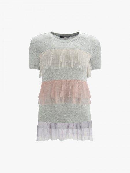 T-shirt com tule
