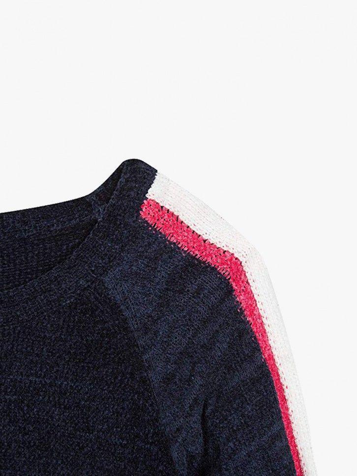 Camisola de malha cropped