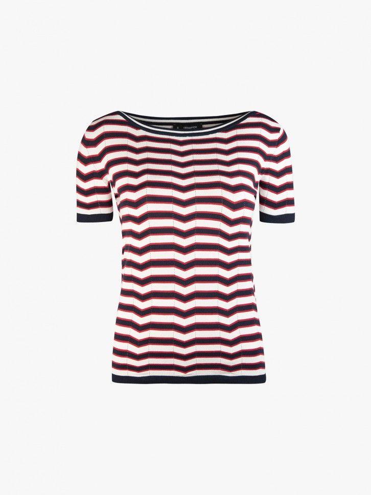 T-shirt padrão geométrico