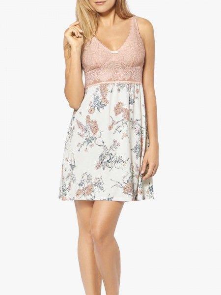 Camisa de noite floral