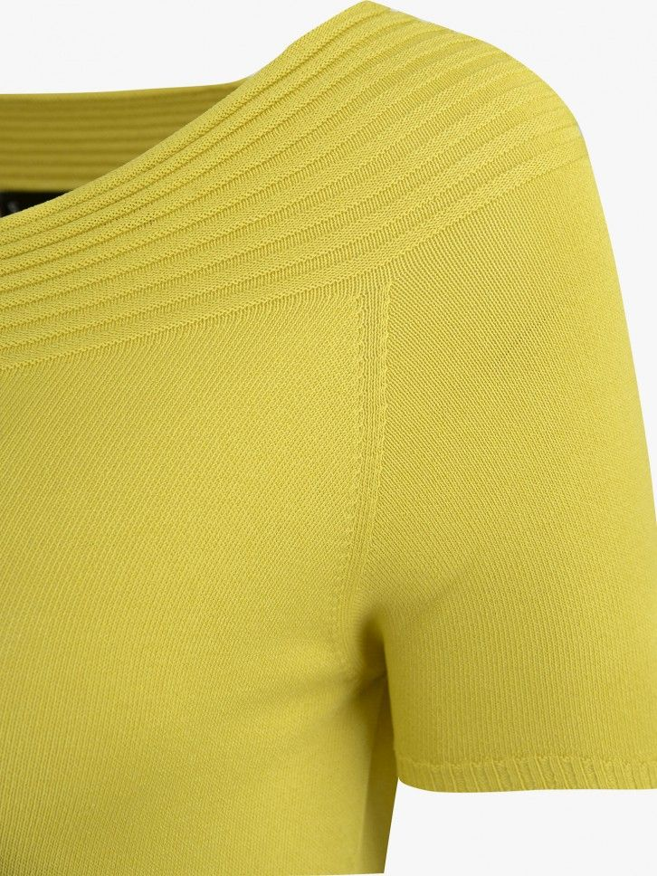 Camisola decote canelado