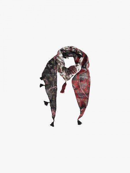 Écharpe com padrão floral
