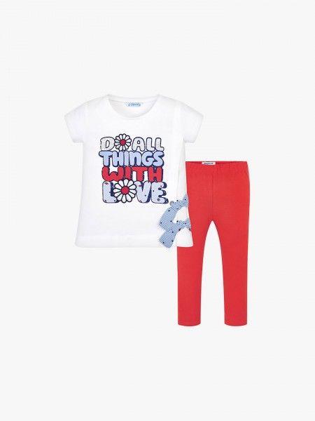 Conjunto t-shirt e legging