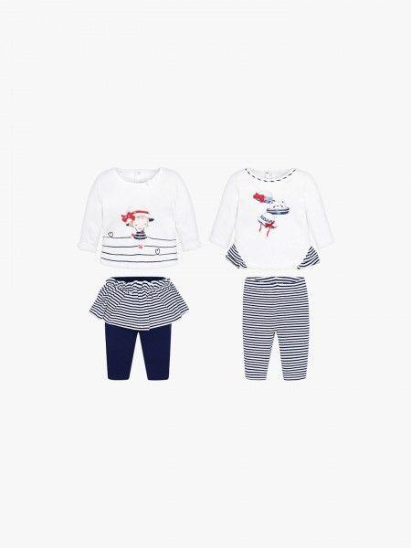 Dois conjuntos camisola e legging