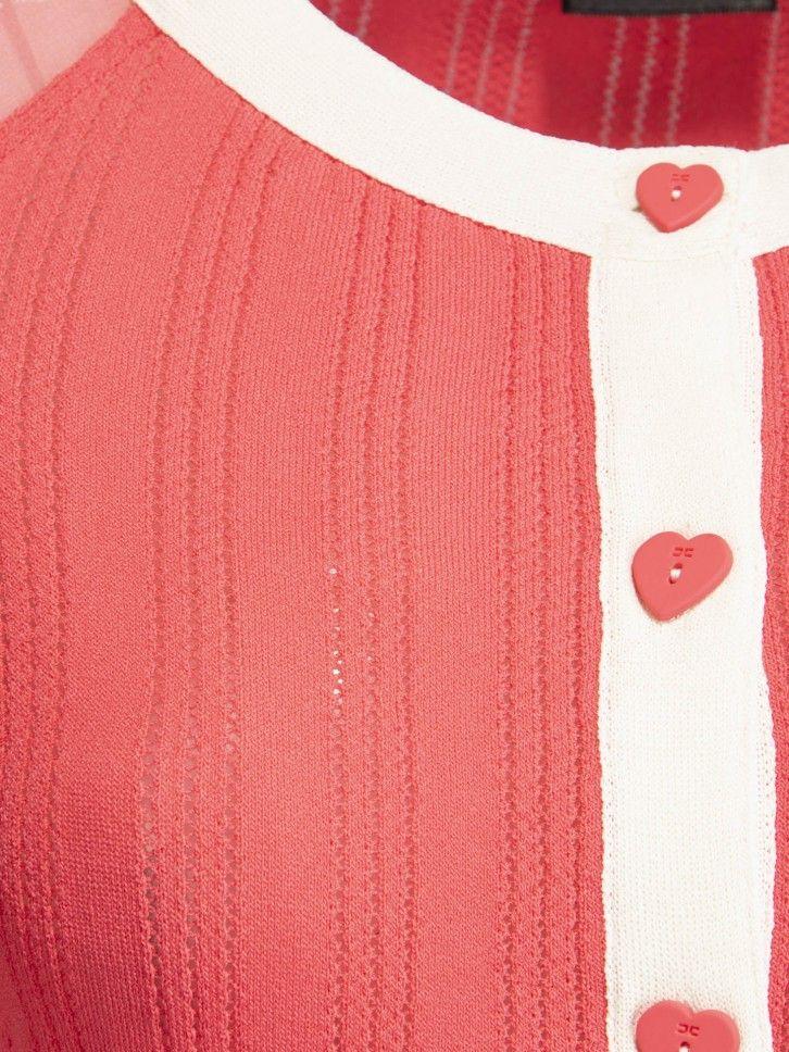 Casaco de malha dois tecidos