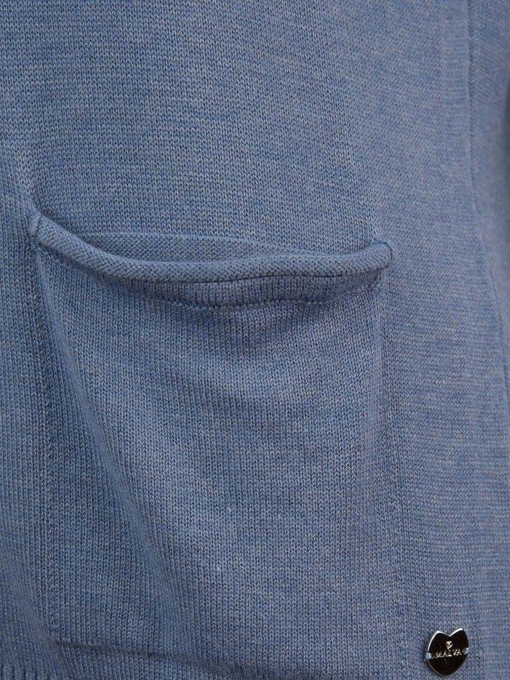 Casaco de malha com bolsos