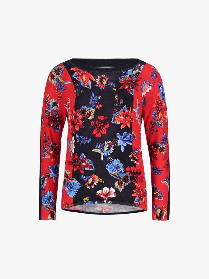 Camisola de malha estampado floral