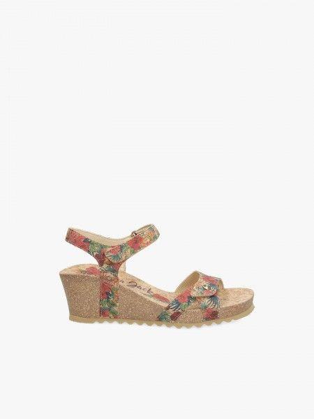 Sandália estampado floral