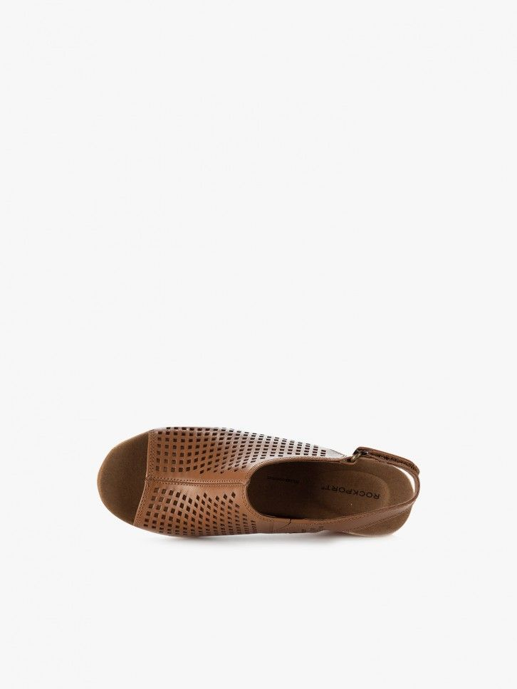 Sandália de cunha