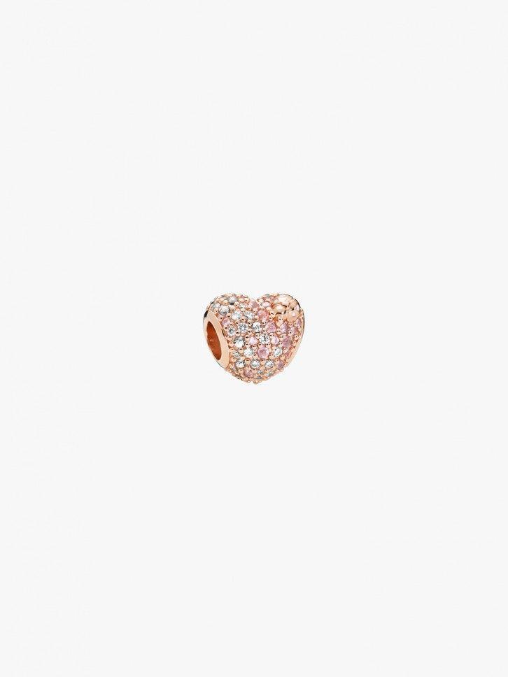 Conta Rose Gleaming Ladybird Heart