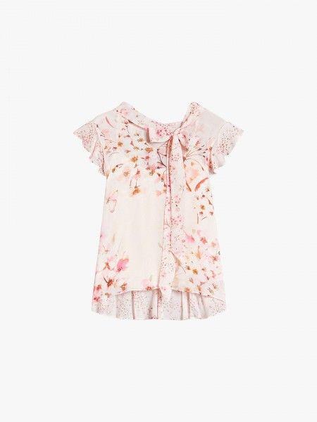 Blusa Estampado Floral c/ Laço