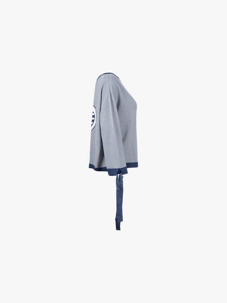 Camisaco de Malha Riscas  c/ Laços