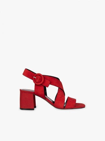 Sandálias de camurça