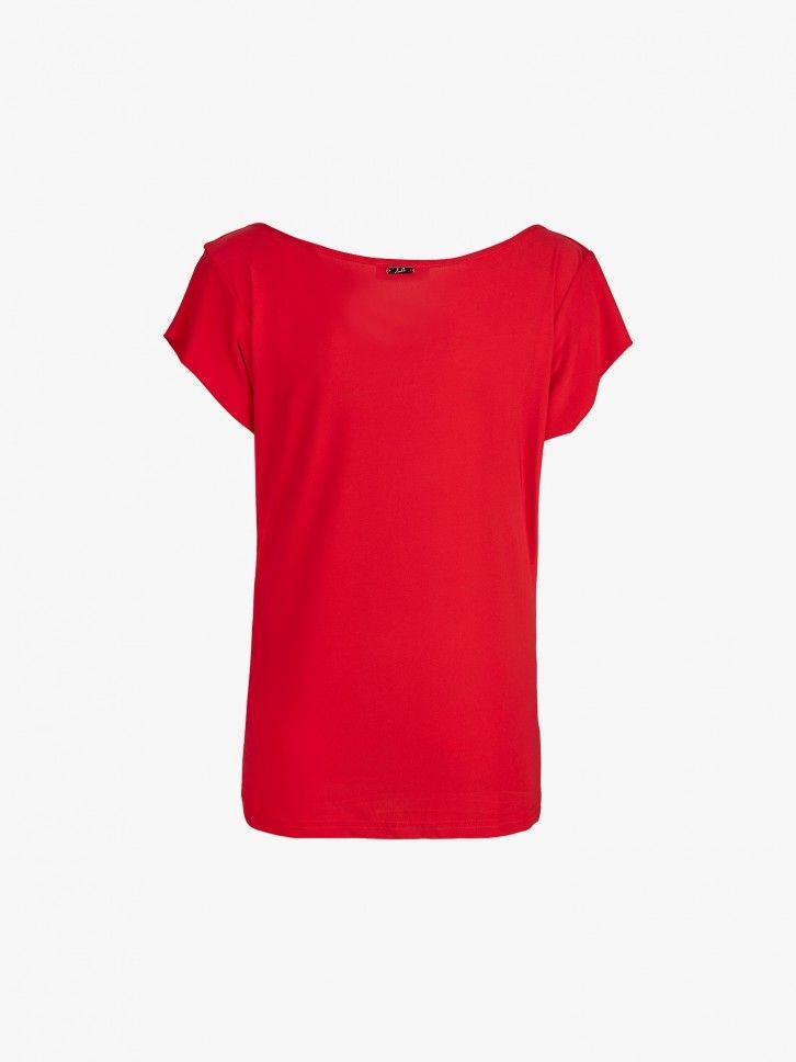 T-shirt efeito drapeado