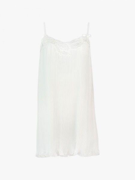 Camisa de noite plissada
