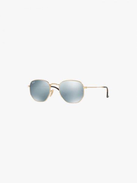 Óculos de sol hexagonais