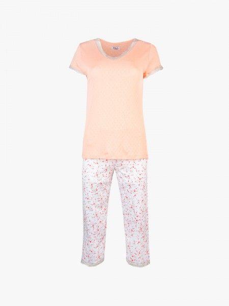 Pijama de t-shirt e corsários