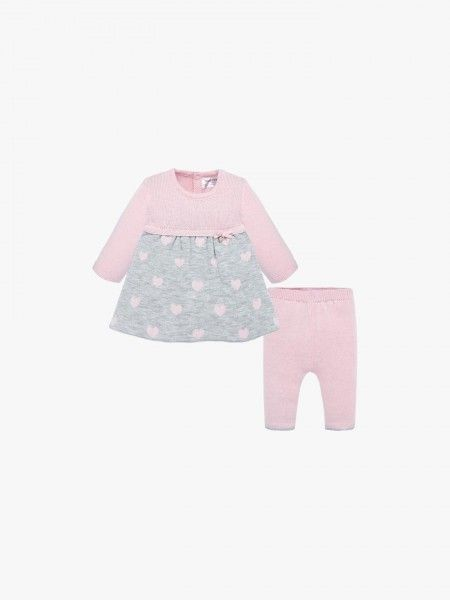 Conjunto vestido e calças de bebé