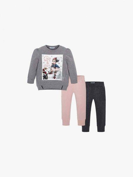 Conjunto camisola e leggings