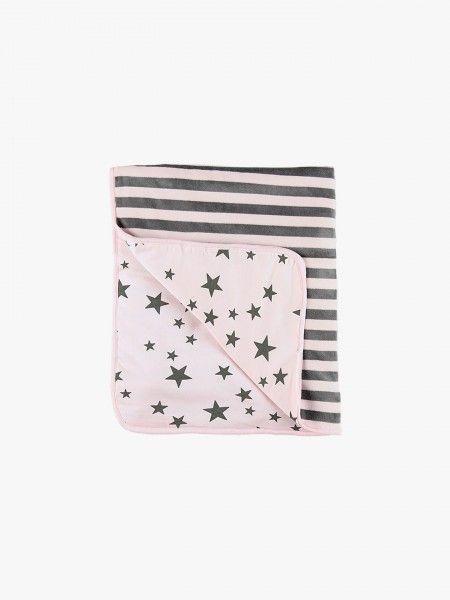 Cobertor de bebé dois padrões