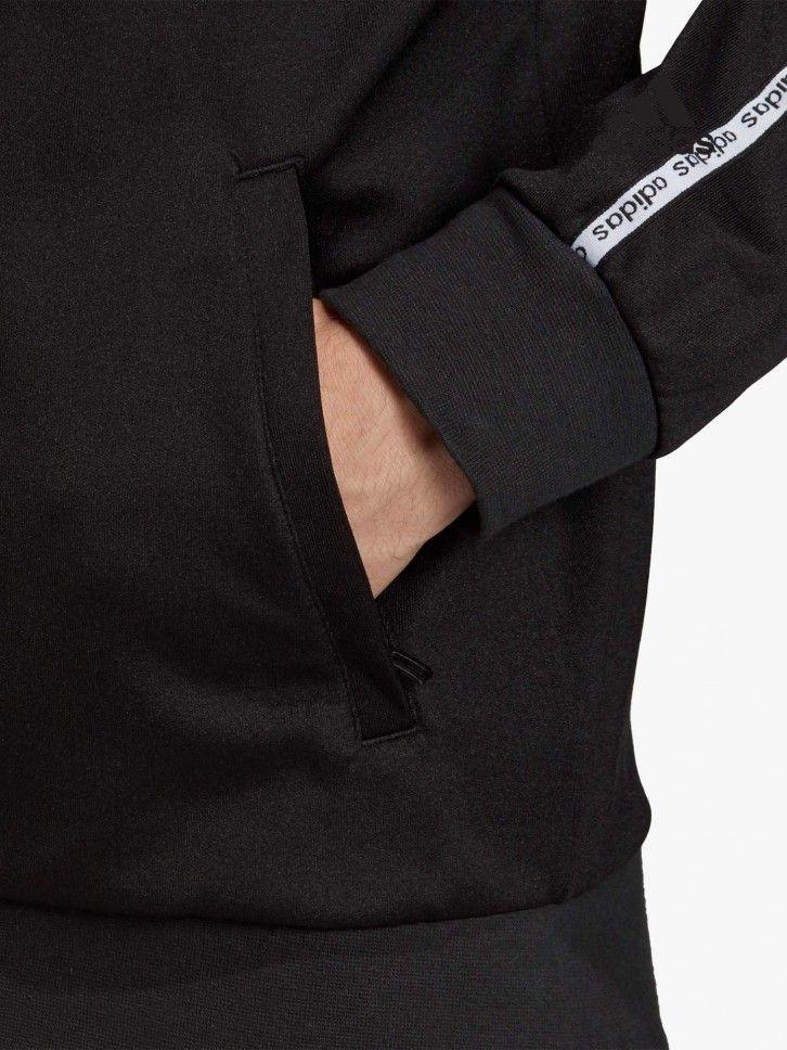 Casaco desportivo com faixas nas mangas