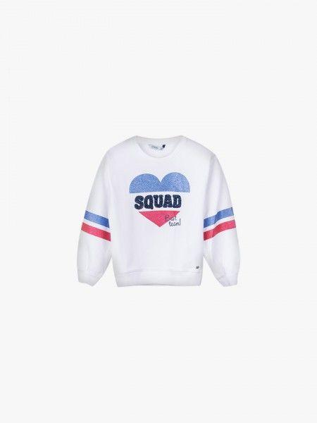 Sweatshirt com efeito brilhante