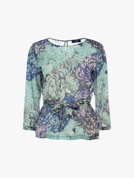 Blusa com estampado floral