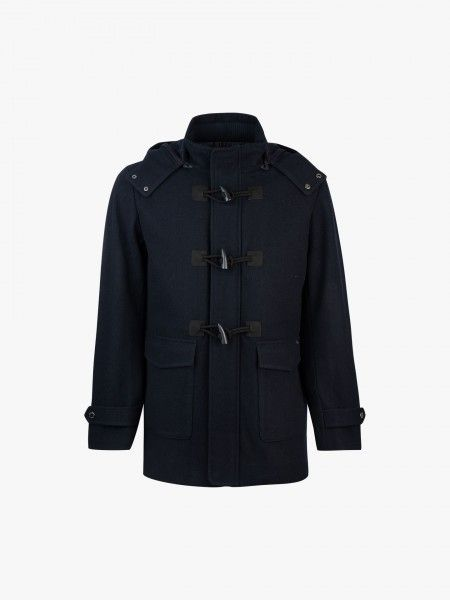 Duffle coat com capuz