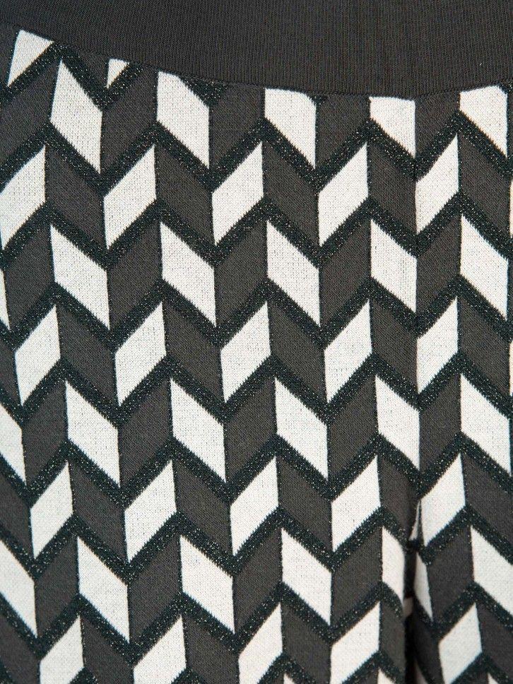 Calça padrão geométrico