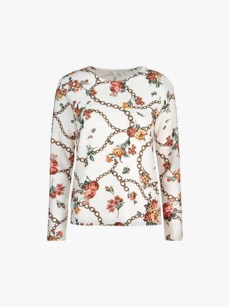 Sweatshirt com estampado floral