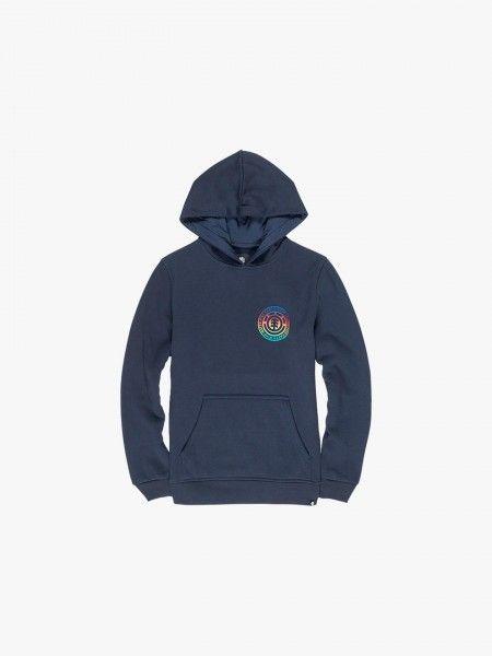 Sweatshirt com costas estampadas
