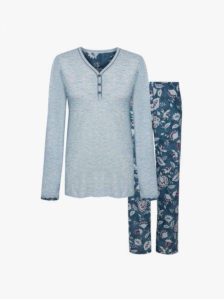 Pijama de calças estampadas