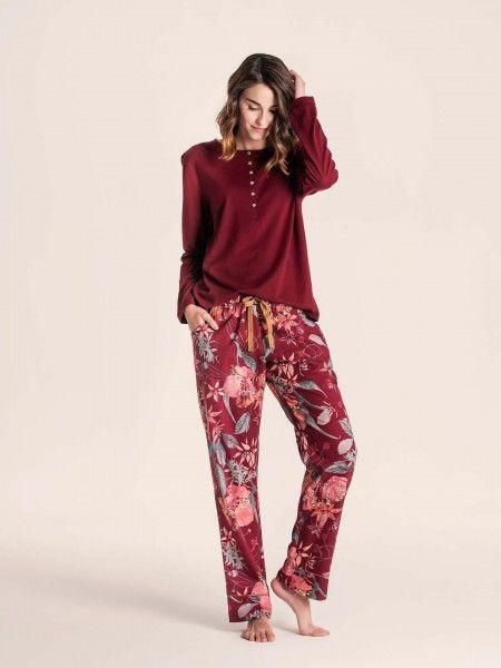 Pijama de calça estampada