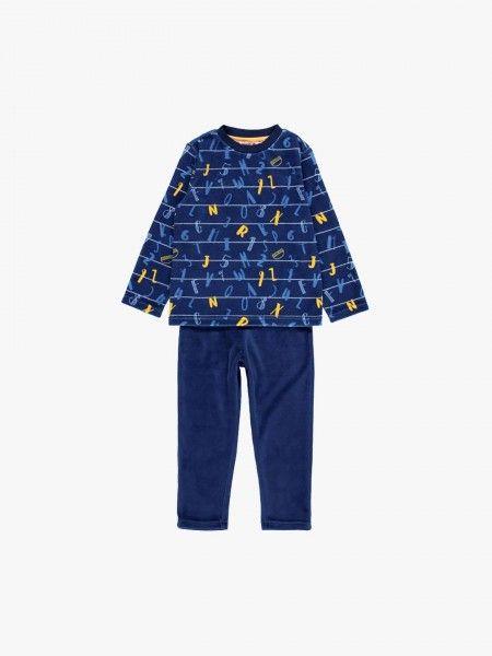 Pijama com camisola estampada