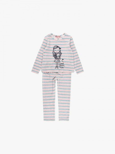 Pijama às riscas