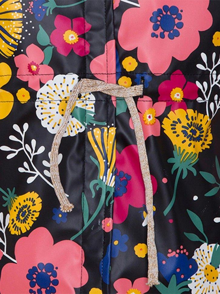 Gabardine com estampado floral