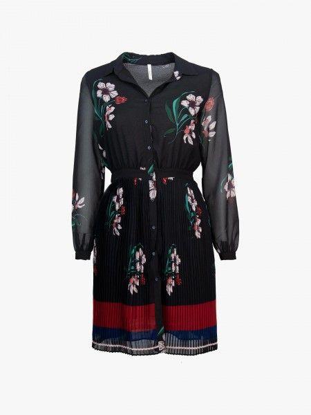 Vestido camiseiro com estampado floral