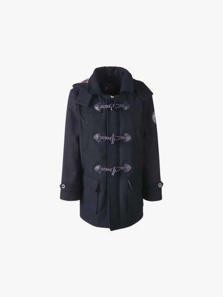 Duffle-coat com capuz