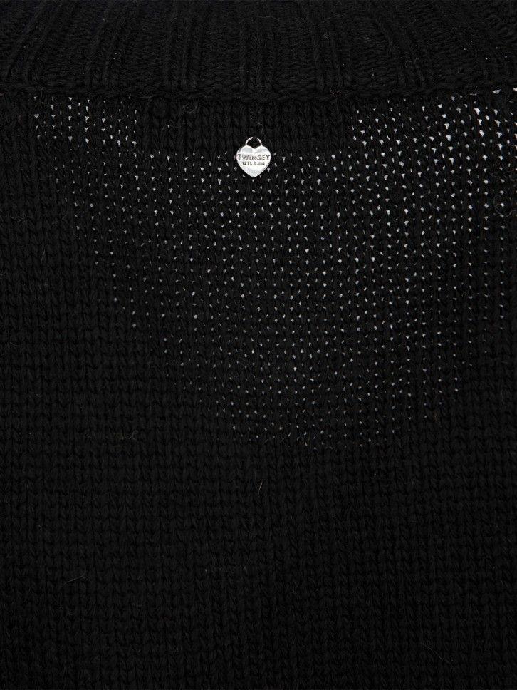 Casaco de malha padrão geométrico