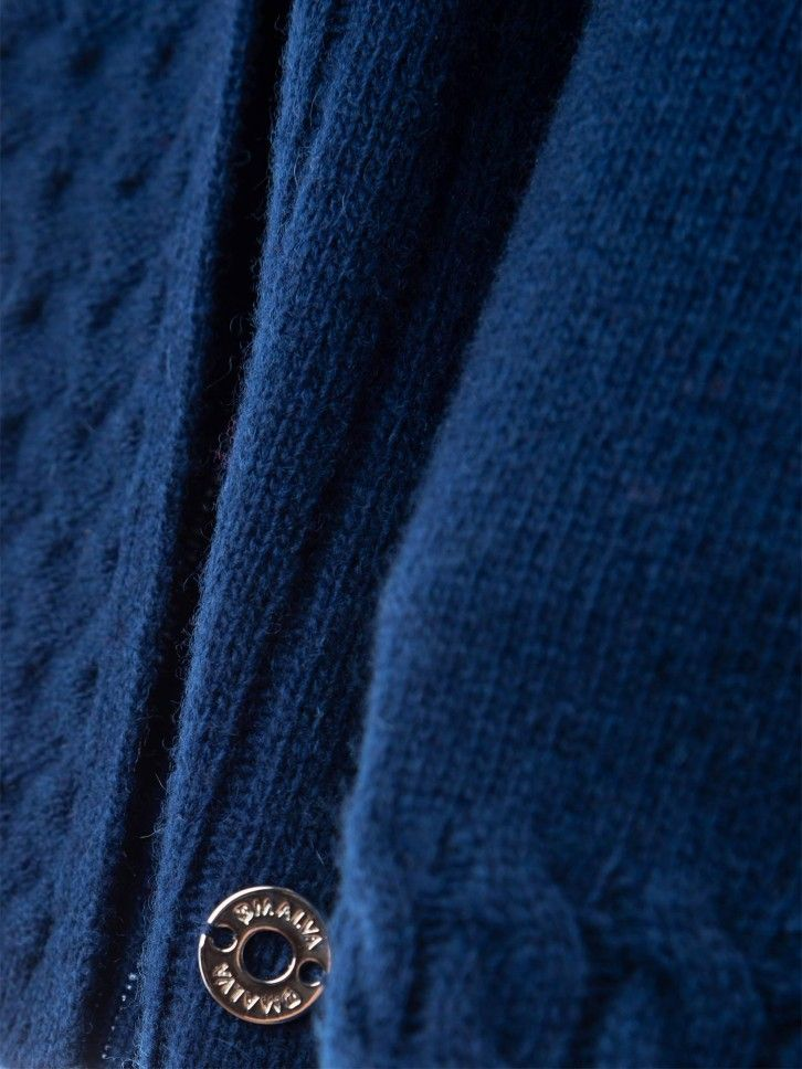 Casaco malha com textura