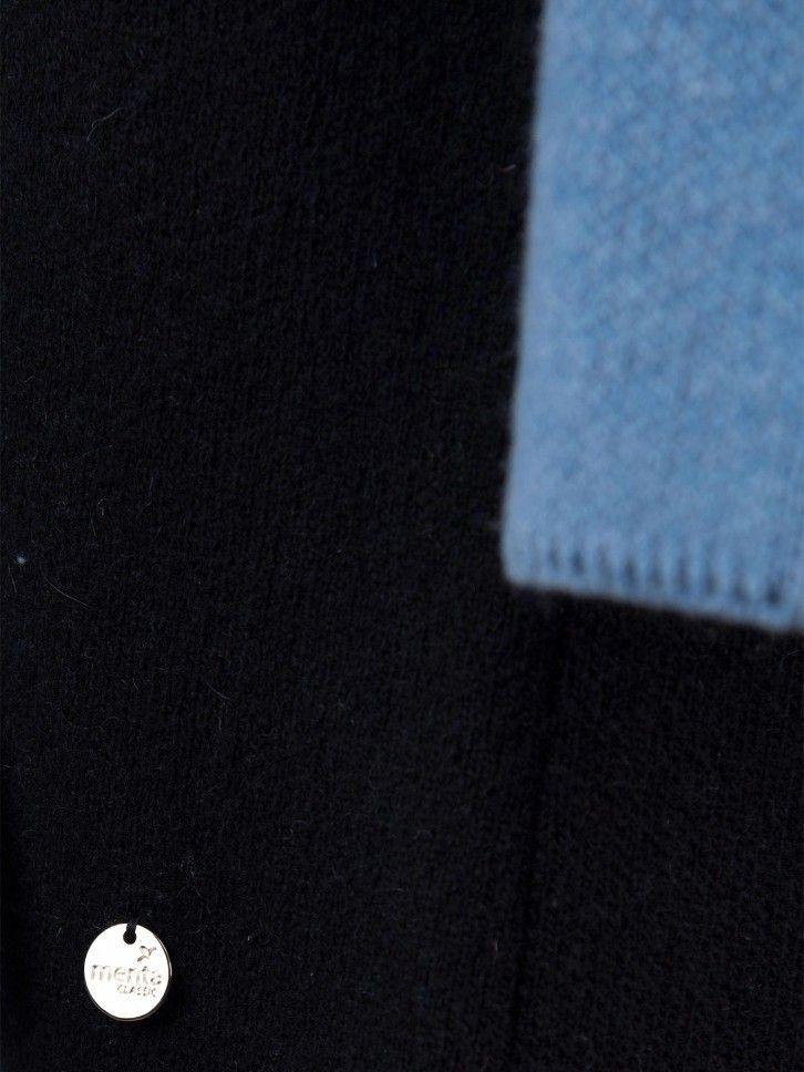 Casaco de malha bicolor