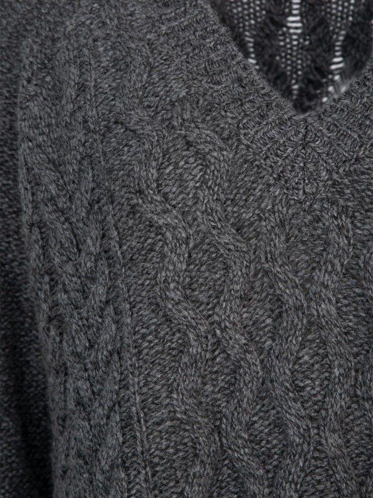 Camisola de malha trançada