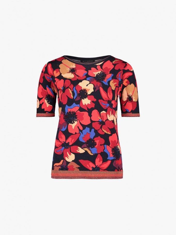T-shirt estampado floral
