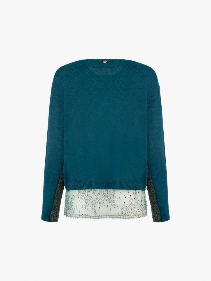 Conjunto de camisola e blusa
