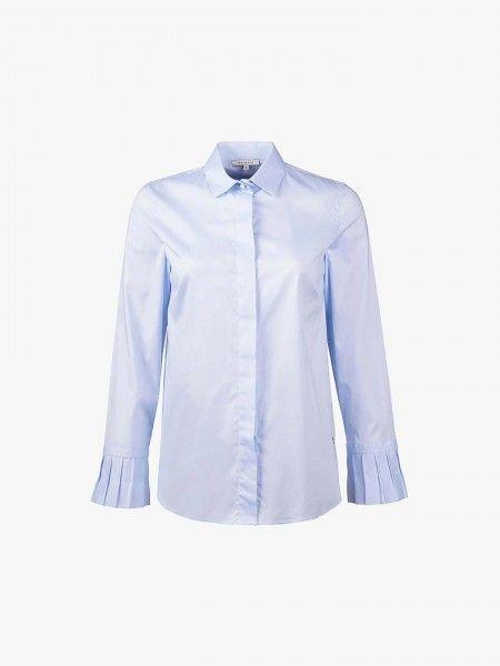 Camisa com punhos plissados